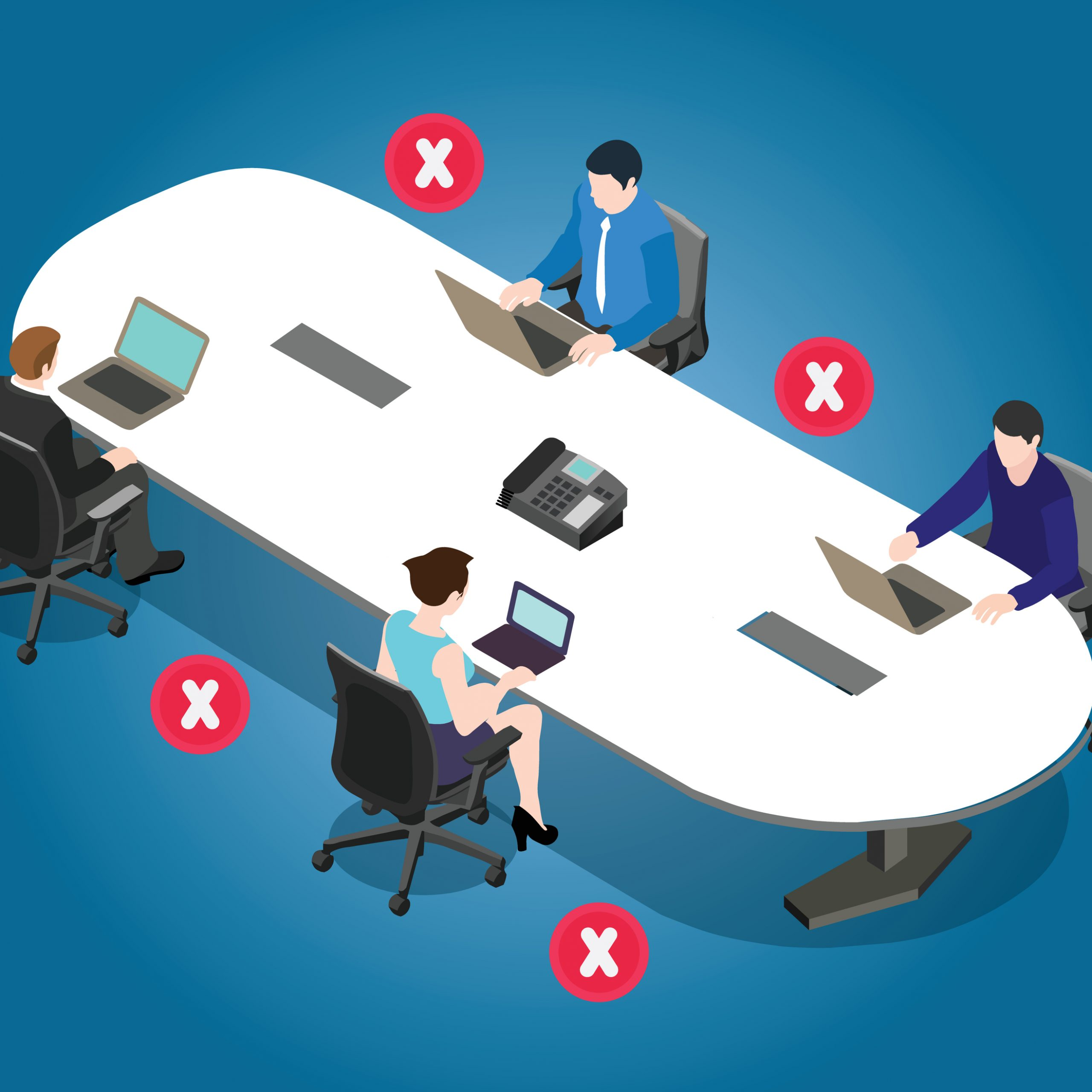 Social distancing in offices will be the new normal. m.
