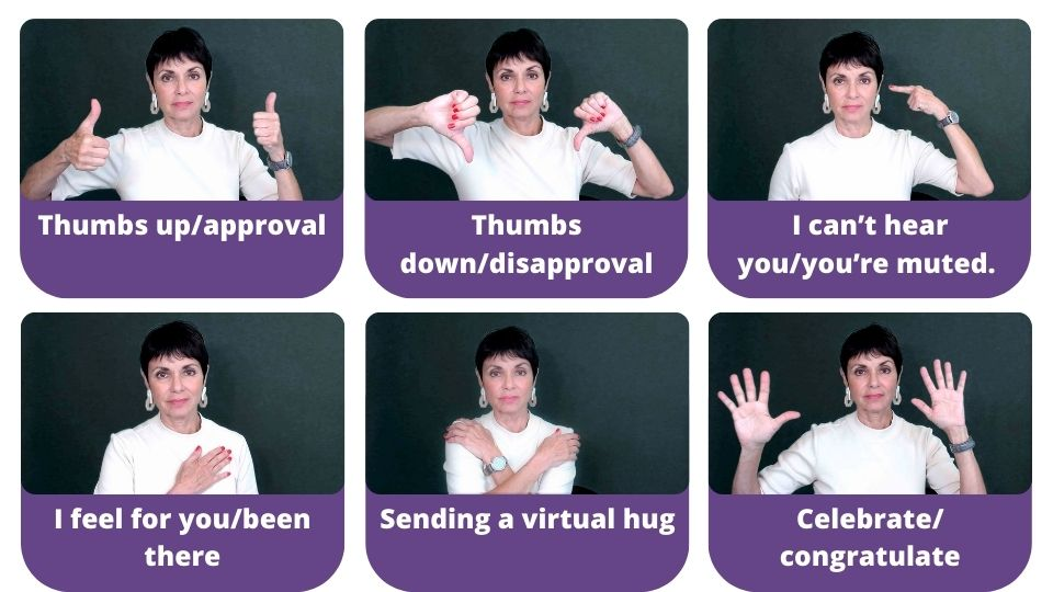 Hand gestures for Zoom